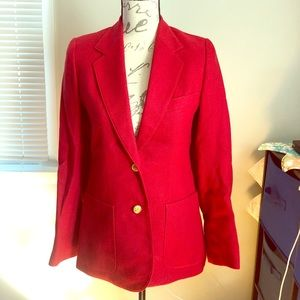 Hunter's Run red blazer with anchor buttons